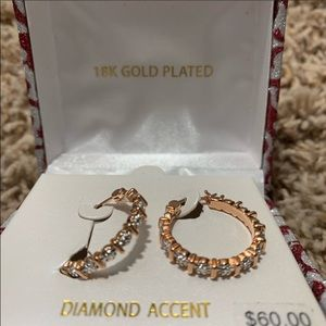 ROSE GOLD DIAMOND ACCENT EARRINGS